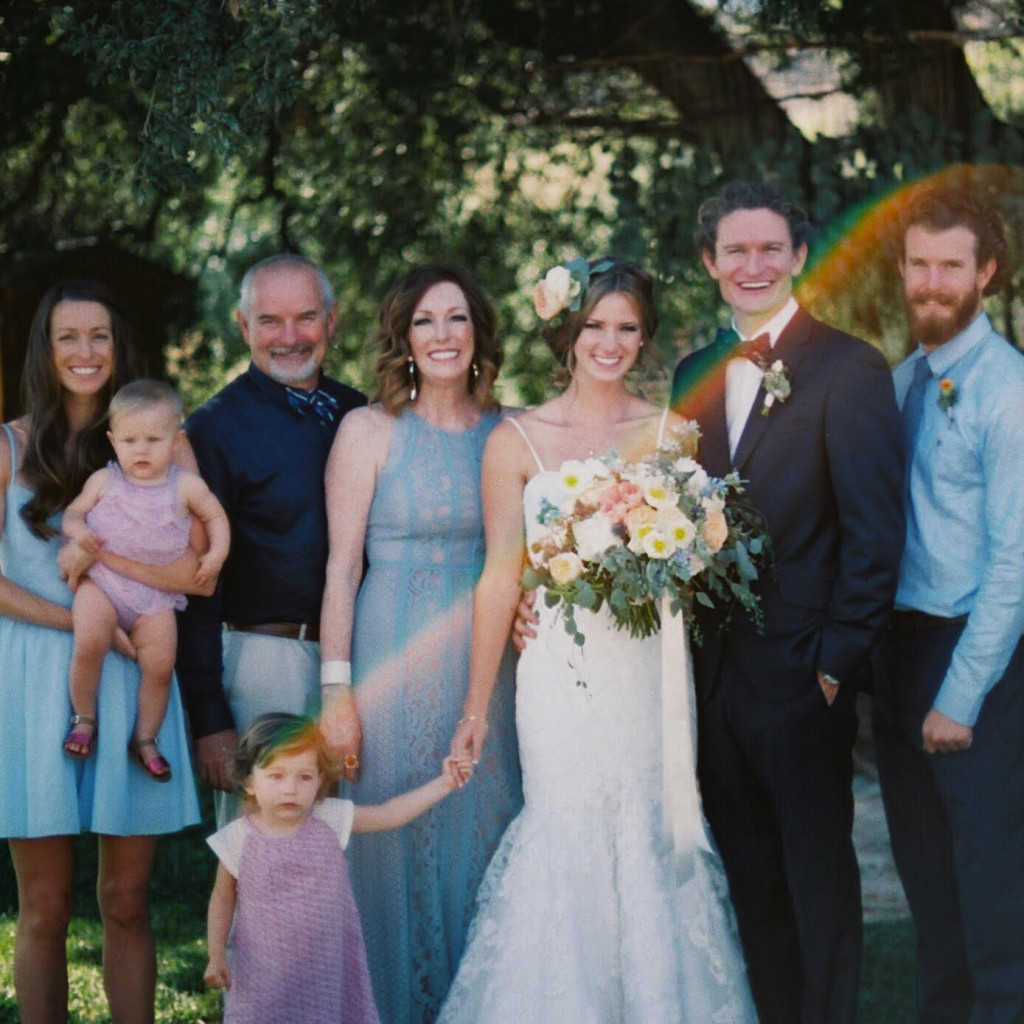 My whole wonderful beautiful family at Connor's wedding this summer.